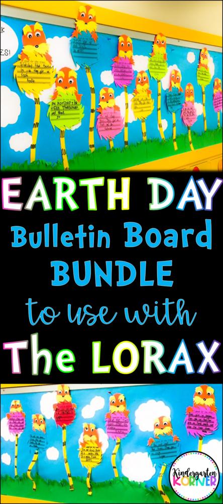 Lorax Bulletin Board Earth Day