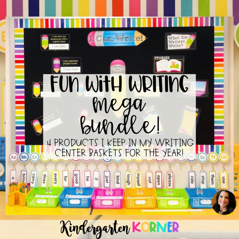 Writing Center Bundle to Supplement Fundations