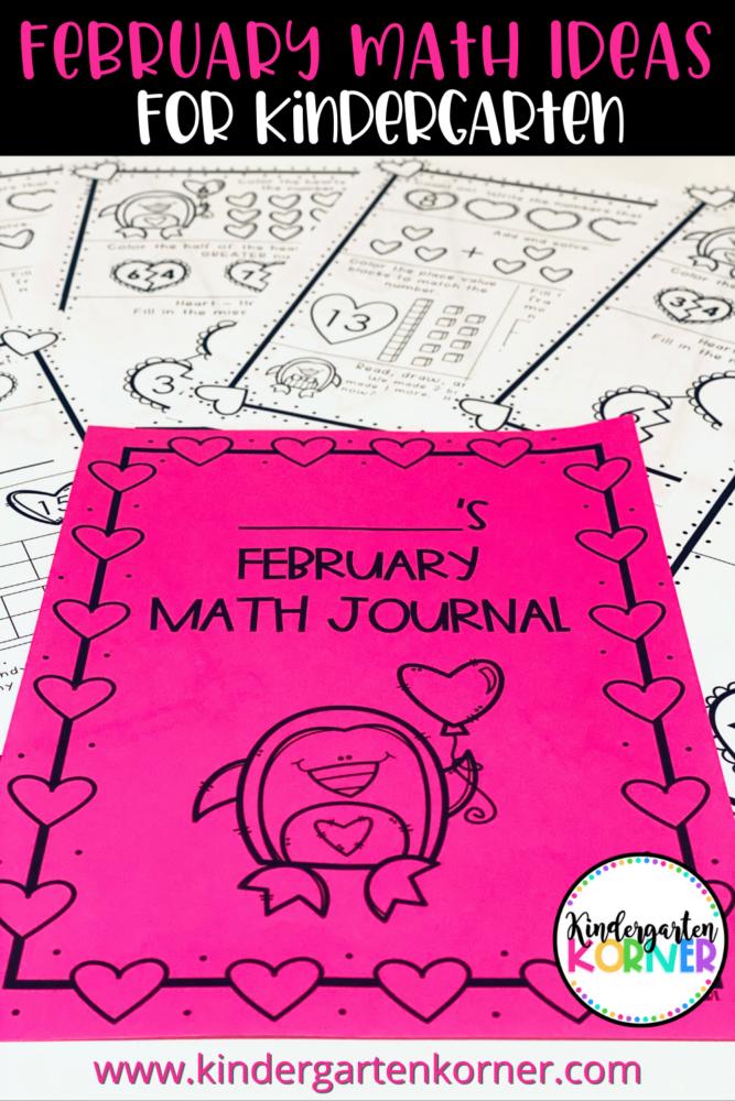February Math Journal for Kindergarten