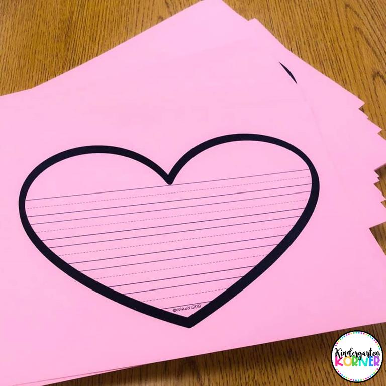 heart writing templates