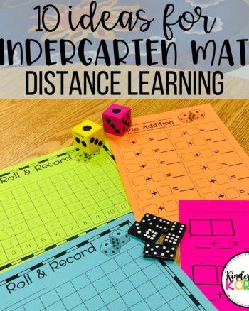 Kindergarten Distance Learning Math