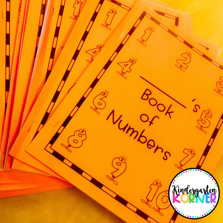 Kindergarten Number Sense Books