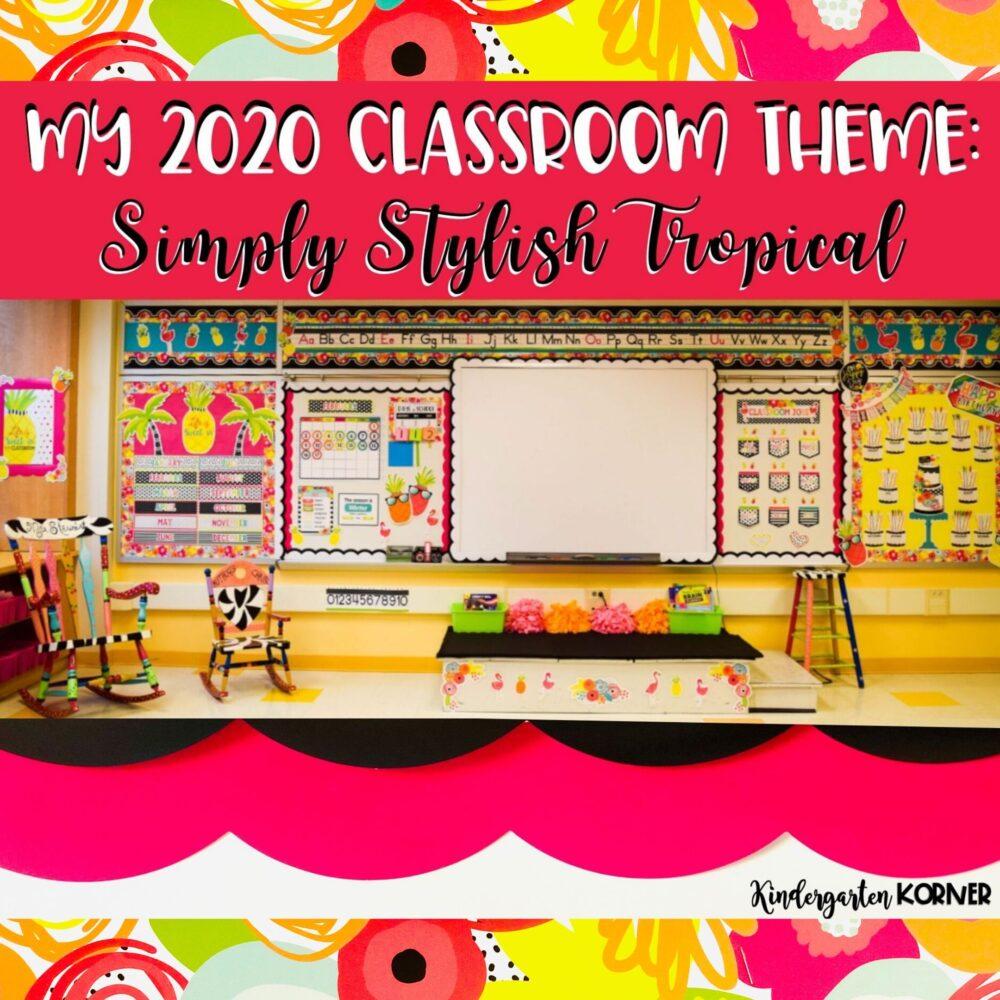 Tropical Beach Classroom Theme