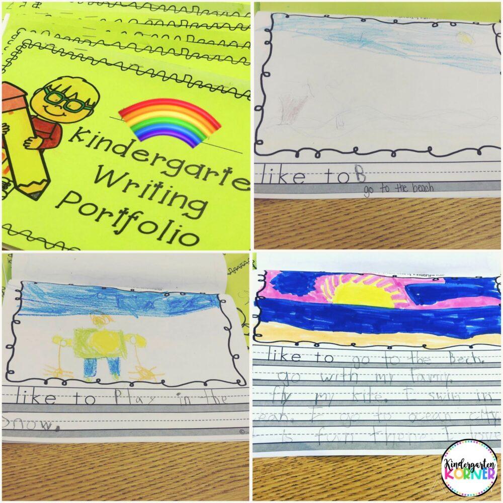 Kindergarten Writing Portfolios