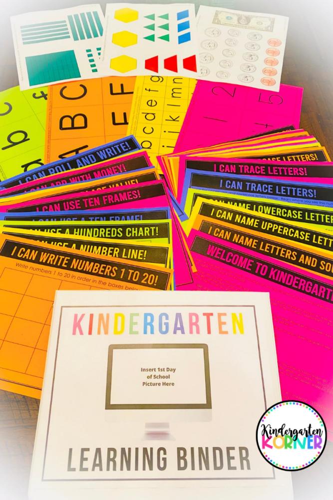 Kindergarten Remote Learning Binder
