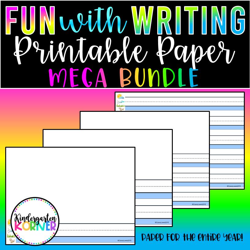 Kindergarten Printable Writing Paper