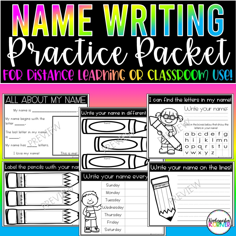 Name Writing Practice Pages