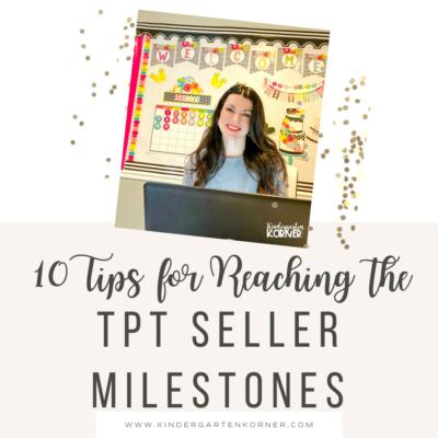 TPT Seller Milestones