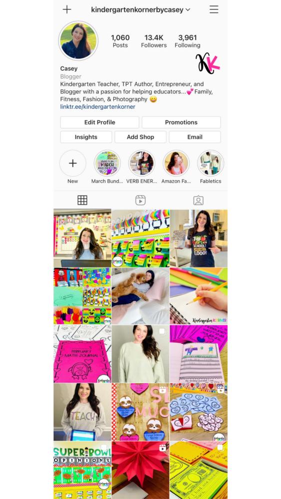 Kindergarten Korner Instagram