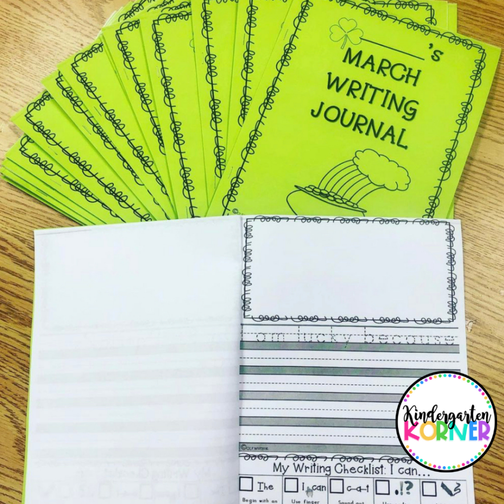 Kindergarten Writing Journals March