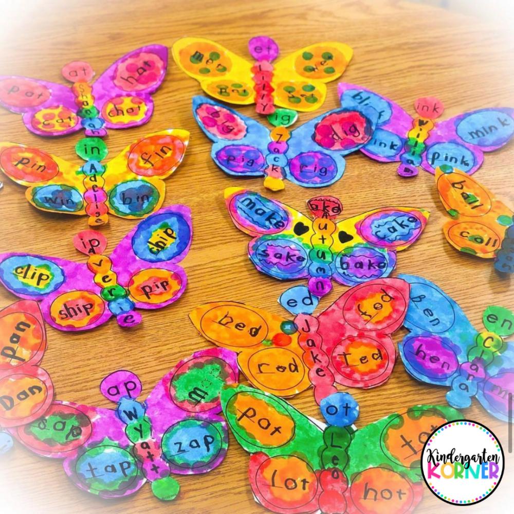 Butterflies Word Families