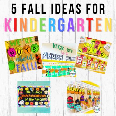 fall ideas for kindergarten